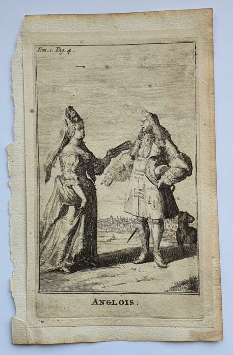 Print. R. de Hooghe [or in the style of]. ANGLOIS.