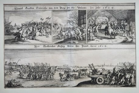 Print. Anonymous. The Dutch approaching their enemy, 1624.