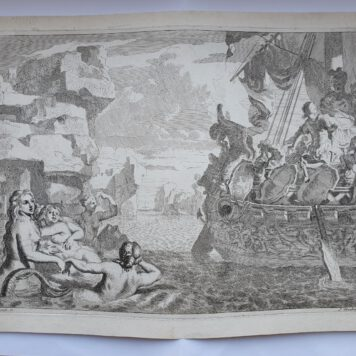 Print. J. Glauber, after G. de Lairesse, Odysseus and the mermaids.
