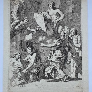 Print. J. Glauber, after G. de Lairesse, Allegory of printing.