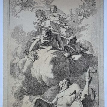 Print. J. Glauber, after G. de Lairesse, Unity has chained wrath: an allegory of concord.