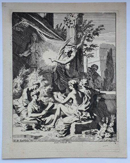 Print. J. Glauber, after G. de Lairesse, Allegory on the art of drawing.