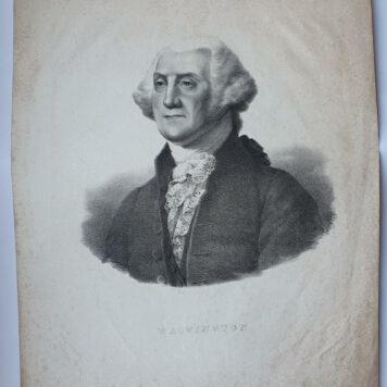 Print. A. Maurin, after G. Stuart, Portrait of George Washington.