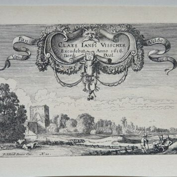 Print. J. v.d. Velde II, Title page of part 3 of the set of Landscapes.
