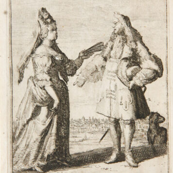 [Antique etching, ets] Romeyn de Hooghe [or in the style of]. ANGLOIS (Engelsen), published 1650-1700.