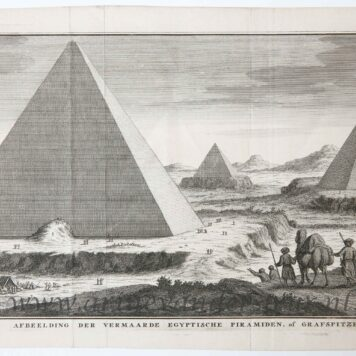 [Antique etching and engraving, ets en gravure, print] J.C. Philips, The Pyramids in Egypt, published 1732-1733.
