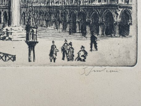 Print. Unknown artist (XX century), St. Mark Square in Venice.