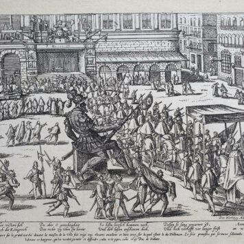 Print. F. Hogenberg, Entry of the Duke of Anjou in Antwerp.