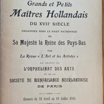 [Catalogue] Exposition Retrospective des Grands en des Petits Maitres Hollandais du XVIIe siecle