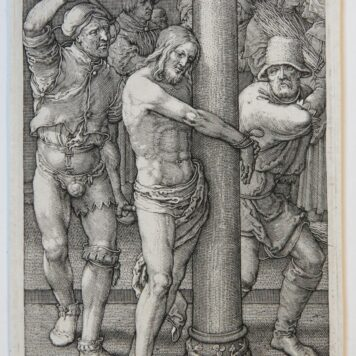 [Antique print, engraving] J.H. Muller, after L. van Leyden, The Passion. Devotiegrafie. ca. 1650.