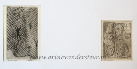 Two prints in a passepartout/