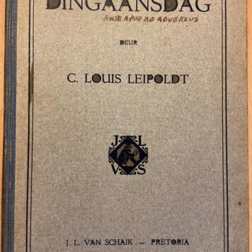 [FIRST EDITION] Dingaansdag deur C. Louis Leipoldt