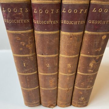 Four volumes: Gedichten by Cornelis Loots,