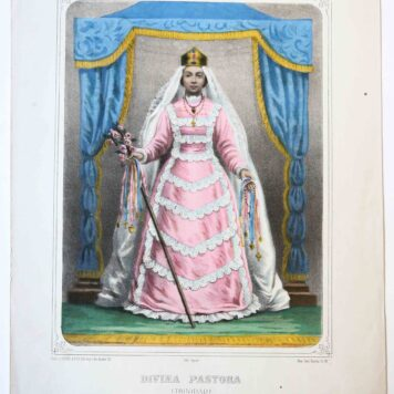 [Antique lithography] DIVINA PASTORA, ca 1860.