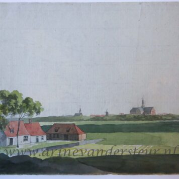 [Drawing, watercolor] View on the outskirts of Haarlem.