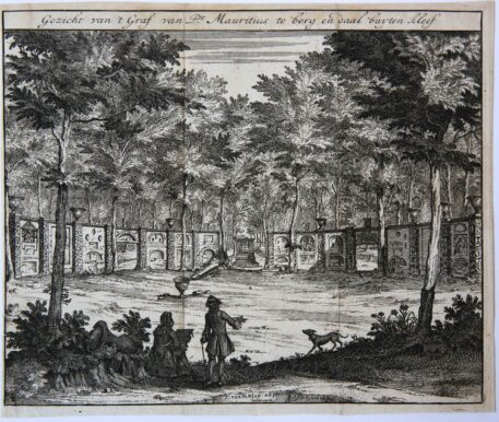 [Antique print, etching and engraving] View of the grave of Johan Maurits, Count of Nassau-Siegen, near Cleve.