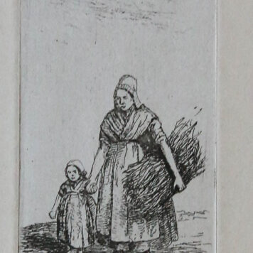 [Antique print, etching] A woman with a child by her hand.