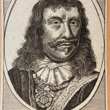 [Antique print, etching] Portrait of Michiel de Ruyter (1607-1676).