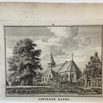 [Antique print] Lopikker Kapel.