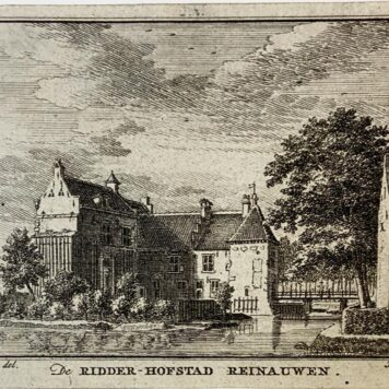 [Copperplate engraving/etching] De Ridder-Hofstad Reinauwen