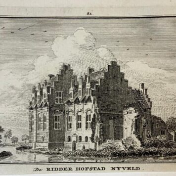 [Antique copperplate engraving/etching] De Ridder Hofstad Nijveld, 1745-1774.