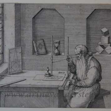 [Antique print, etching] Portrait of Wenzel Jamnitzer, published ca. 1561-1591.