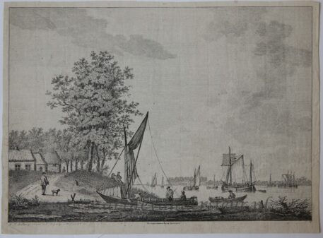 [Antique print, etching] DE HOEK VAN DE LEK BIJ KRIMPEN, published 1785.