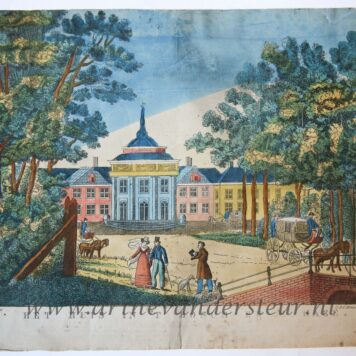 [Antique print, etching] HET HUIS IN 'T BOSCH BIJ 'S HAGE, published ca. 1800.