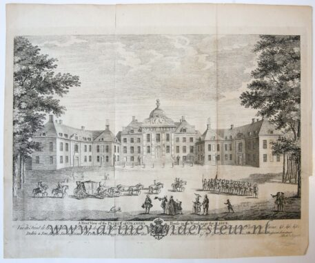 [Two Antique prints, etchings] Two plates with views of Huis ten Bosch in The Hague, published ca. 1750.