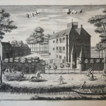 [Antique print, etching] 't HUIS TE WESTERBEEK, published ca. 1735.