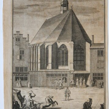 [Antique print, etching] DE ENGELSCHE en HOOGD: KERK, published ca. 1735.