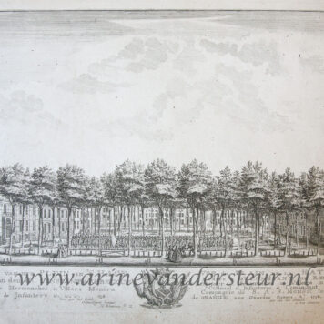 [Antique print, etching] GEZICHT VAN HET PLEIN IN 'S HAGE. Published 1758.