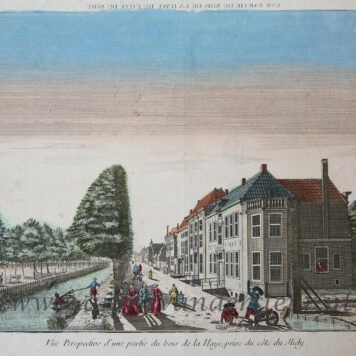 [Handcolored Opticaprent/Optical view The Hague/Den Haag] UNE PARTIE DU BOIS DE LA HAYE DU COTE DU MIDY (Haagse Bos, Prinsessengracht Den Haag), published ca. 1770.
