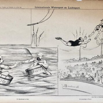 original-lithograph-lithografie-by-johan-braakensiek-internationale-watersport-en-luchtsport-12-juni-1892-1-pp