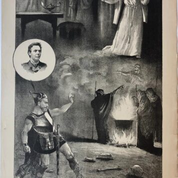 "[Original lithograph/lithografie by Johan Braakensiek] ""Macbeth"", 25 September 1887, 1 pp"