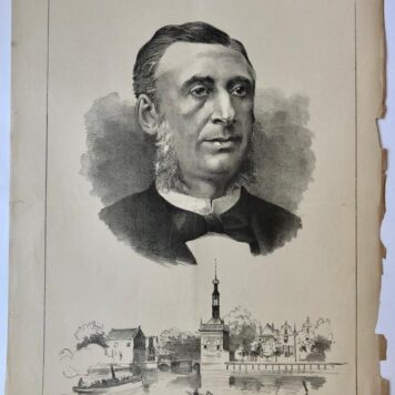[Original lithograph/lithografie by Johan Braakensiek] Mr. J. A. Levy, 30 October 1887, 1 pp.
