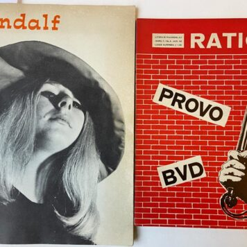 [Magazines, Provo 1965, Gandalf 1966] Ratio Provo BVD Literair maandblad jaargang II/No 5 en no 6 juli en aug 1965 TOGETHER WITH Gandalf, nr. 17 1966.