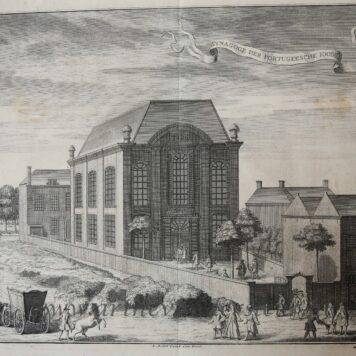 [Antique print, etching, The Hague, Den Haag] Synagoge der Portugeesche Iooden, published ca. 1735/De Portugese Synagoog in Den Haag.