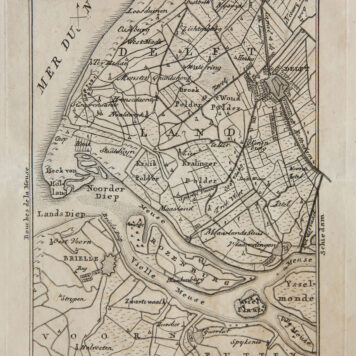 [Cartography, etching, Den Haag] Maps of The Hague and surroundings, published 1814.