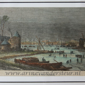 [Original print, hand colored wood engraving, Den Haag, The Hague] Vue de la Haye (Hollande), published 1865.
