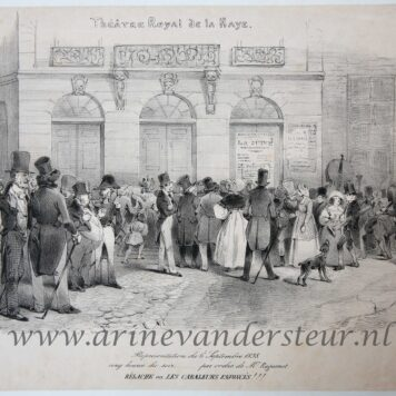 [Satirical print, lithography, The Hague, Den Haag] Representation du 6 Septembre 1838, published 1838.
