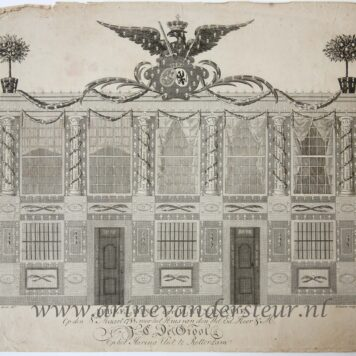 [Original print, etching and engraving, Rotterdam] Illumination of the house of J.C. de Groot in Rotterdam, published 1788.