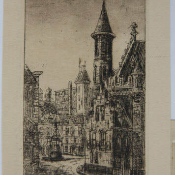 [Modern prints; etchings] Views of The Hague's city center and mills (Den Haag centrum en molen), published before 1950.