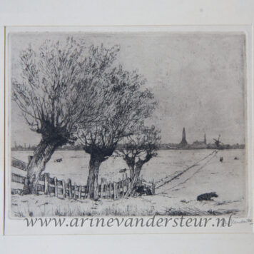 [Modern print, etching] The outskirts of Delft, published before 1937.