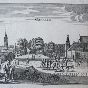 [Antique print, engraving] CAPELLE (Capelle aan den IJssel near Rotterdam), published ca. 1720.
