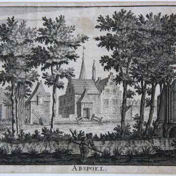 [Antique print, etching] ABSPOEL (near Oegstgeest), published ca. 1712.