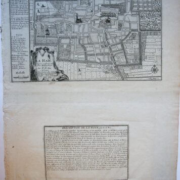 [Cartography, antique print, etching] LA HAIE (The Hague/Den Haag), published 1705.