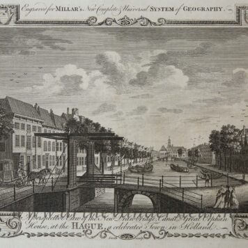 [Antique print, etching] A Perspective View of the New Drawbridge Canal and Great Orphan House at The Hague a celebrated Town in Holland (Bierkade Den Haag), published 1782.