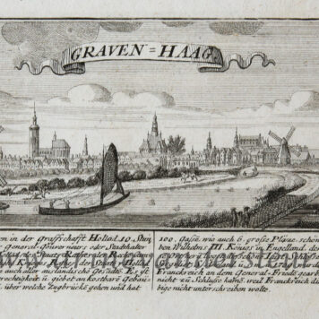 [Antique print, etching, The Hague] GRAVEN-HAAG ('s-Gravenhage, Den Haag), published ca. 1720.
