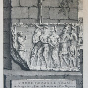 [Antique print, etching, Katwijk, Borch te Bretten] ROODE GEBAKKE TEGEL..., published 1734.
